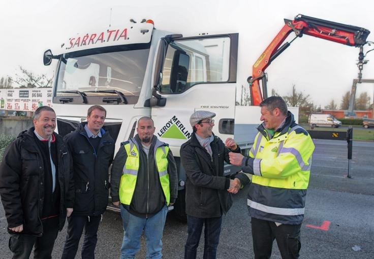 Partenariat Sarratia Leroy Merlin Taldea Transport Et